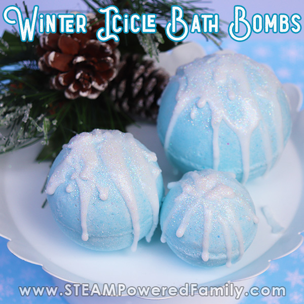 Winter Storm Icicle Bath Bombs