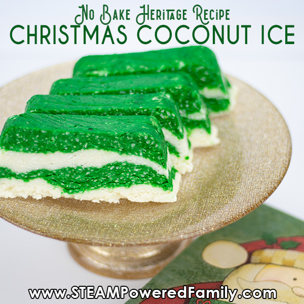 Heritage recipe that is easy for kids to make Coconut Ice