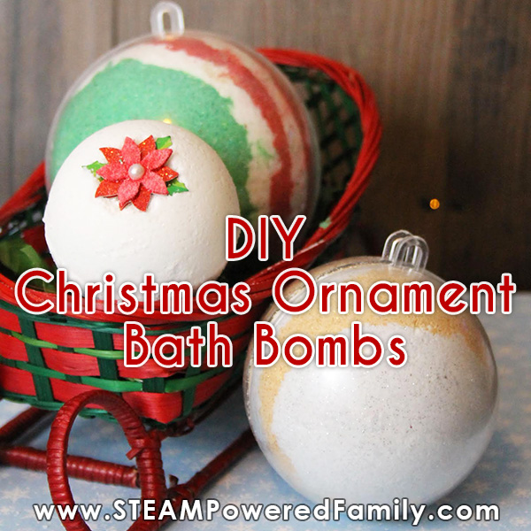 DIY Christmas Ornament Bath Bombs