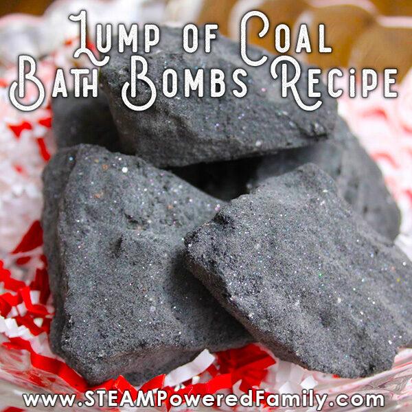 Lump of Coal Bath Bomb Recipe for Christmas