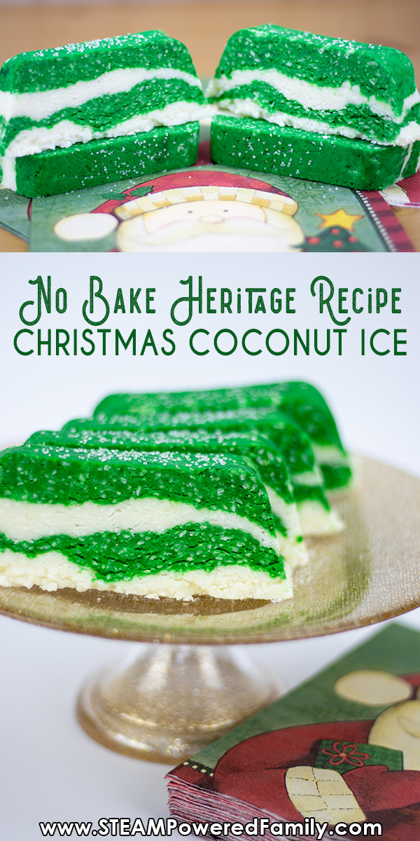 Holiday Coconut Ice is easy to make and tastes amazing! This no bake heritage recipe is the perfect sweet treat to make with the kids this Christmas