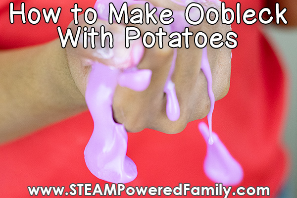 The best oobleck recipe made with potato starch