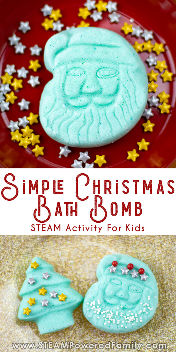 Easy Christmas Bath Bomb Recipe for Kids