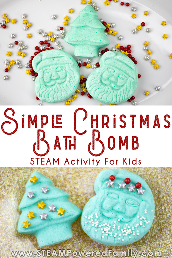 Easy bath bombs for Christmas
