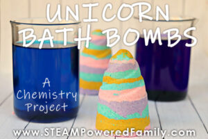 Unicorn horn bath bombs chemistry lab inspired by Zoey and Sassafras