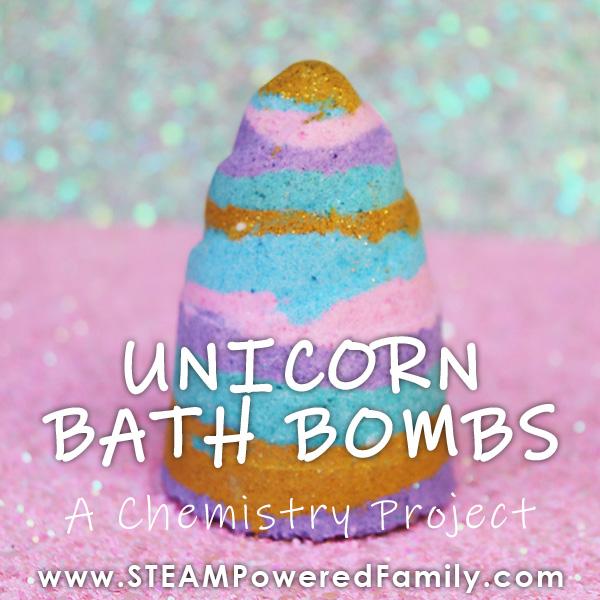 unicorn horn bath bombs
