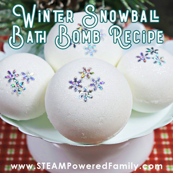 winter science snowball bath bomb recipe