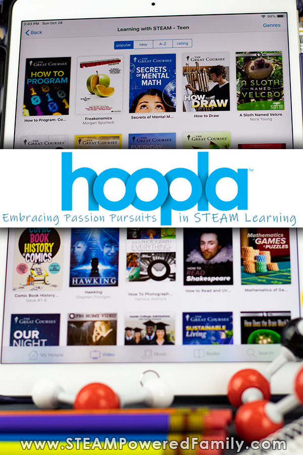 hoopla digital STEAM education resources