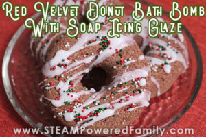 Red velvet donut bath bomb recipe