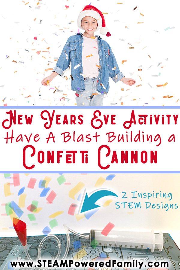New Years Eve STEM Activity Build a Confetti Cannon