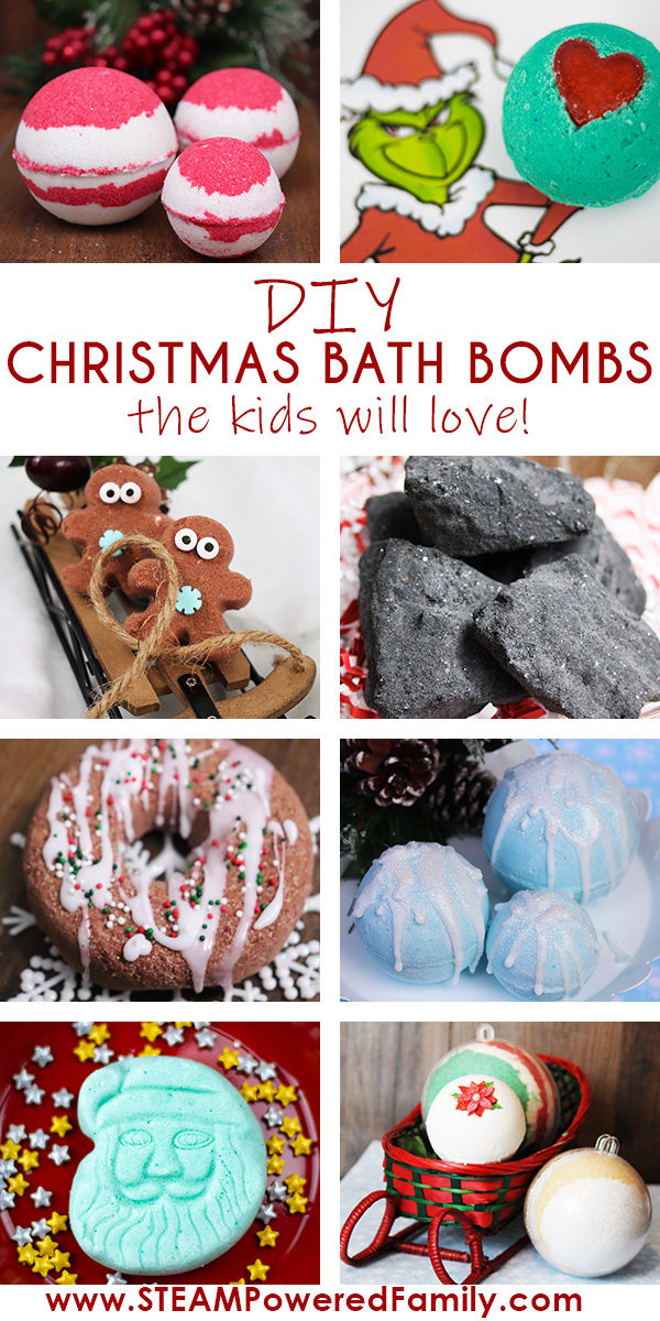 Christmas Bath Bombs For Kids