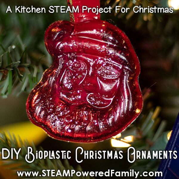 DIY plastic Christmas ornament kitchen science project