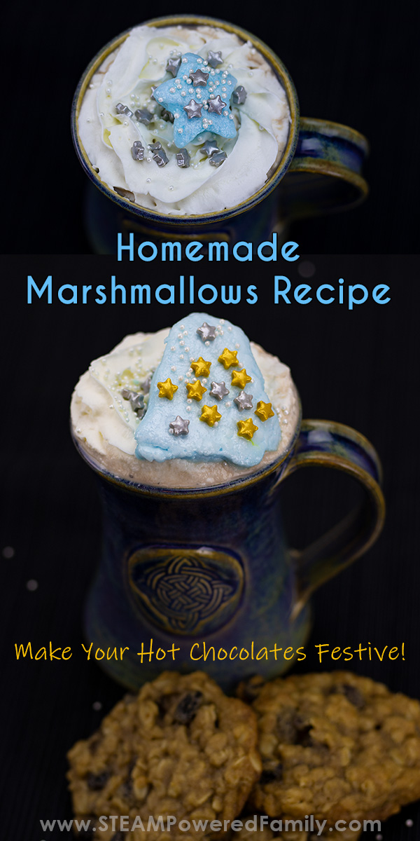 Homemade marshmallows with hot chocolate recipe