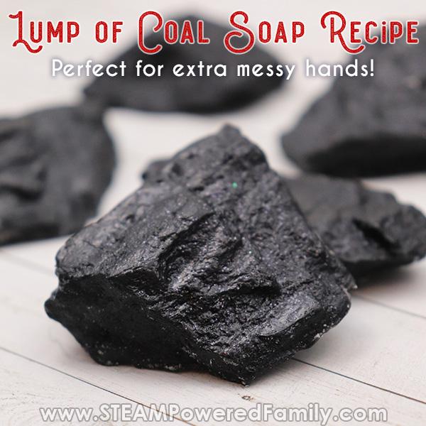 lump of coal soap diy project