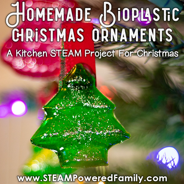 Homemade Christmas Tree Ornament using Bioplastics