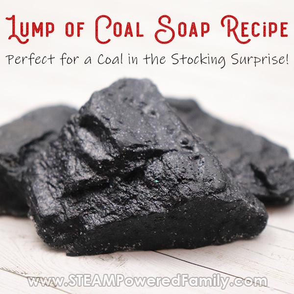 Black lump of coal soap recipe