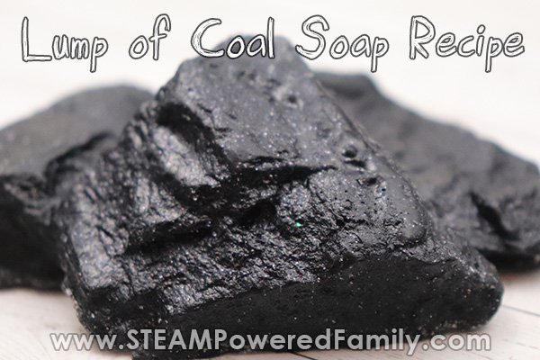 lump of coal easy soap recipe