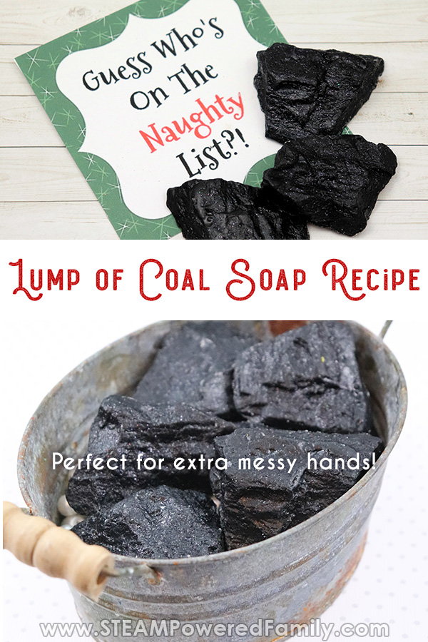 Lump of Coal Soap Recipe For Christmas Naughty List Pranks