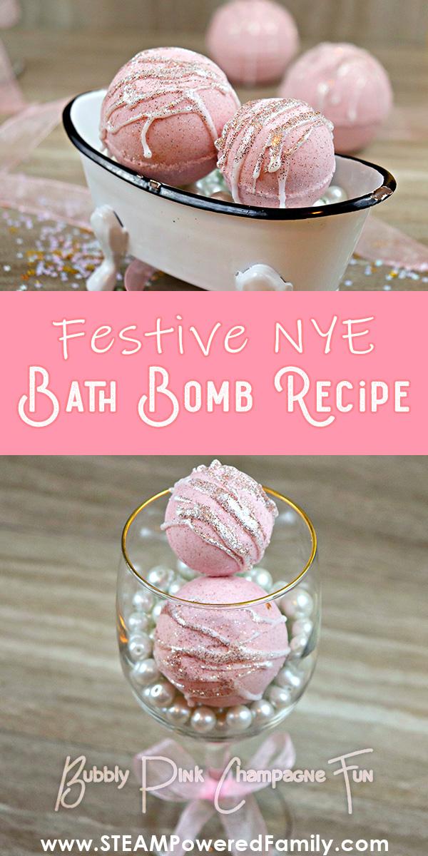 Festive NYE Bath Bomb Recipe