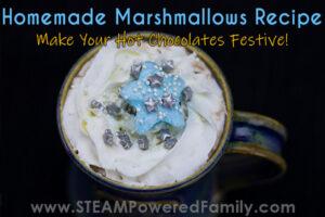 festive homemade marshmallows recipe