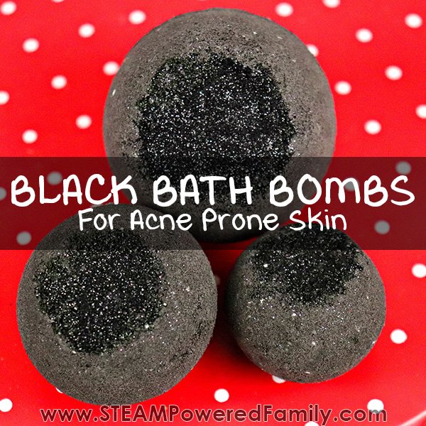 Black Bath Bombs With Charcoal
