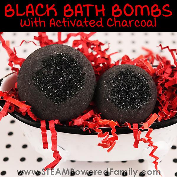 Black bath bombs