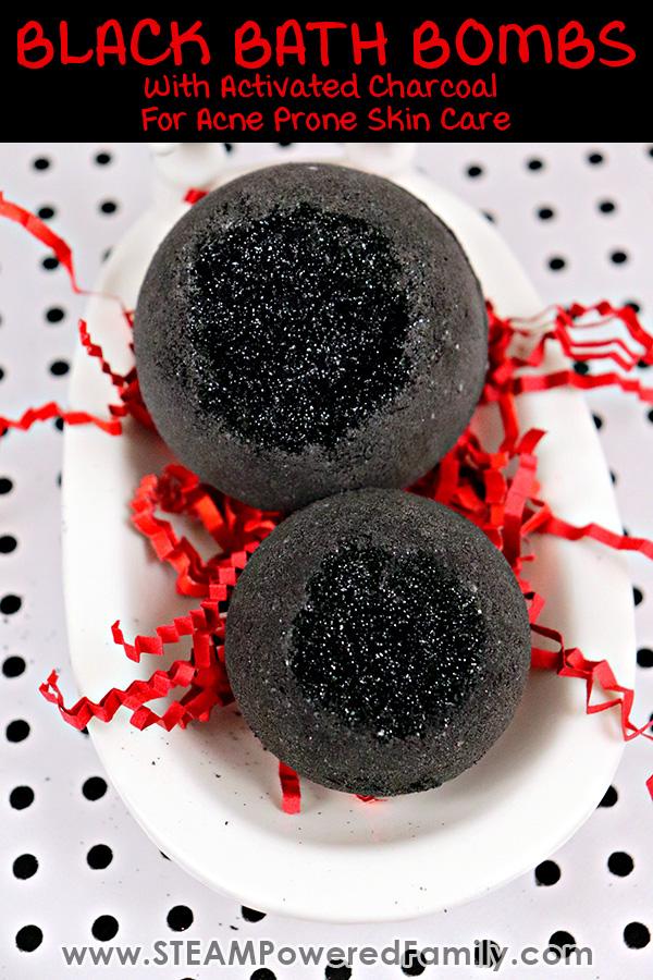 Black Bath Bombs DIY