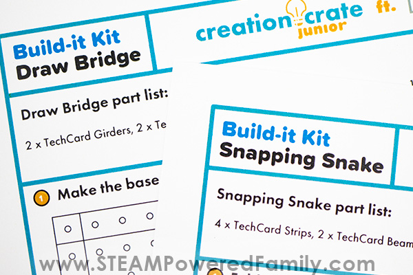 Creation Crate Jr. and Tech Cards bring these engineering kits to your home for your builder of tomorrow