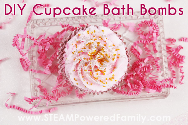 DIY Pink Cupcake Bath Bombs