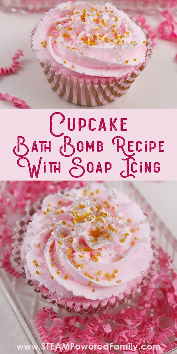 DIY Cupcake Bath Bombs with Science Lesson