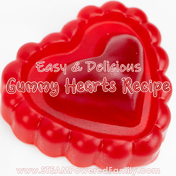 Heart Gummies Science Experiment for Valentine's Day