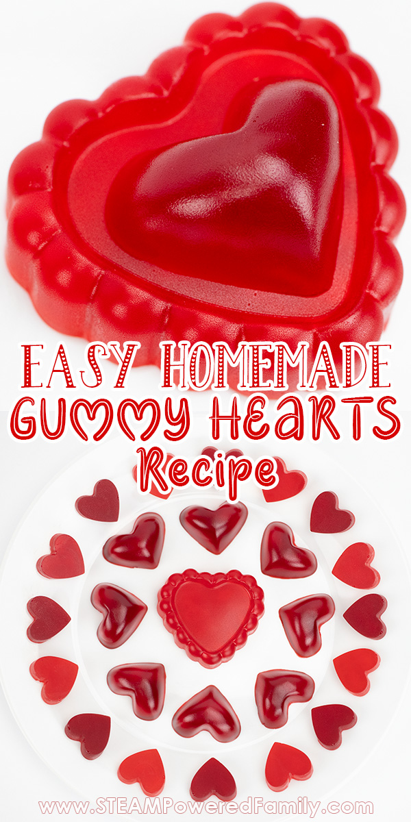Easy and delicious Valentine's Day Science Experiment making gummies candy