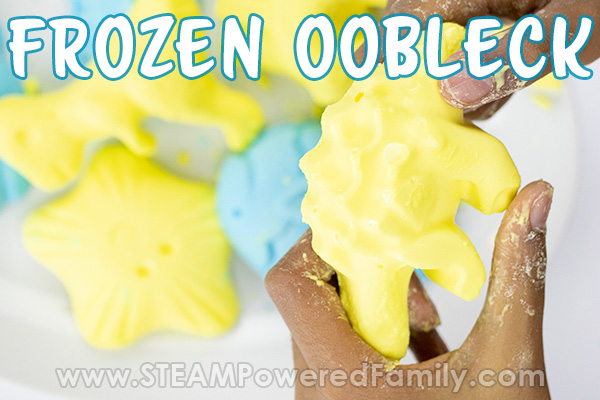 Frozen Oobleck Play and Storage Tips