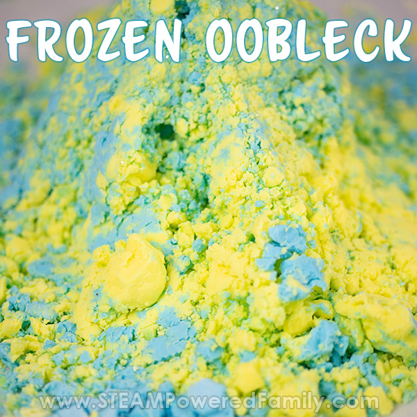 Frozen oobleck turning into clay like texture