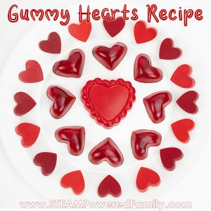 Valentine's Day Science Experiment Making Heart Gummies