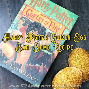 Harry Potter Bath Bombs Recipe inspired by Goblet of Fire Golden Egg
