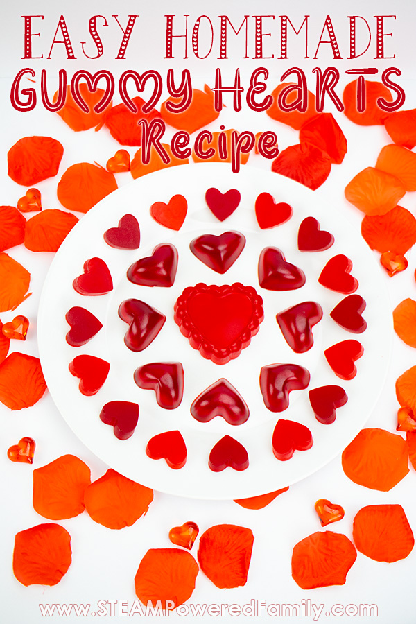 Heart Gummies Recipe for Valentine's Day Science