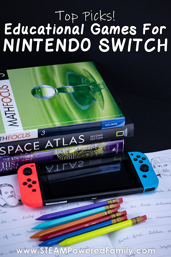 Educational games for kids on Nintendo Switch
