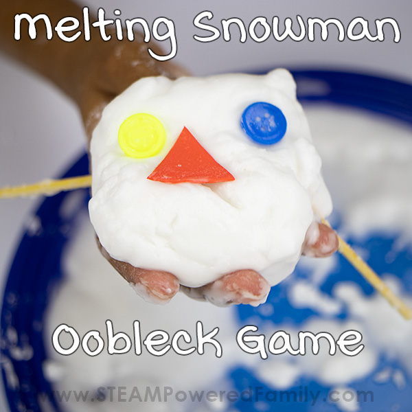 How to make oobleck for melting snowman game