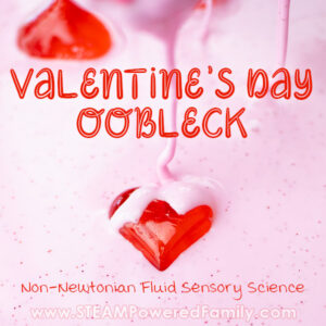 Valentine's Day Oobleck Recipe with Hearts