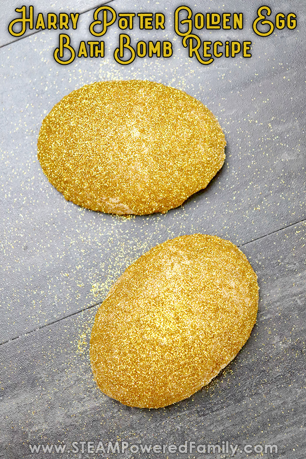 Golden Egg bath bombs inspired by Harry Potter and the Goblet of Fire