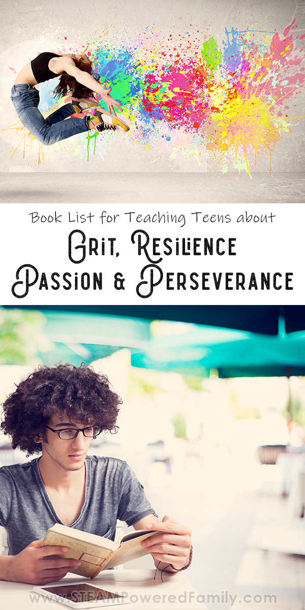 True Story, Fiction and Self Help Books To Teach Teens about Grit and Resilience