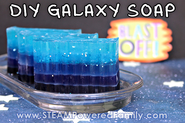 Galaxy Soap DIY for space lovers