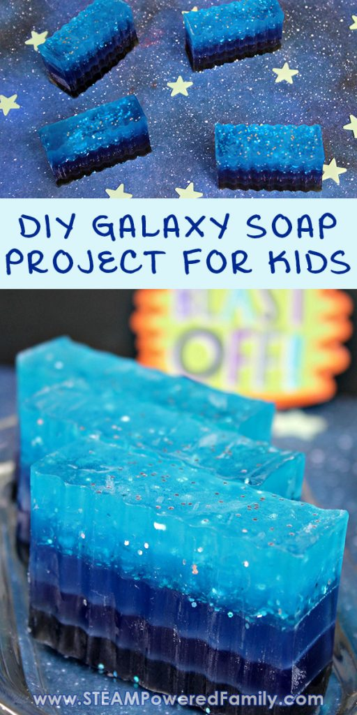 Galaxy Soap DIY Project for Kids Who Love Space