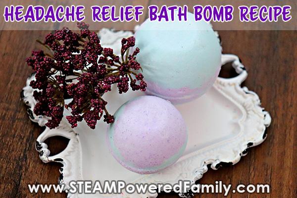 Headache relief bath bomb recipe with lavender