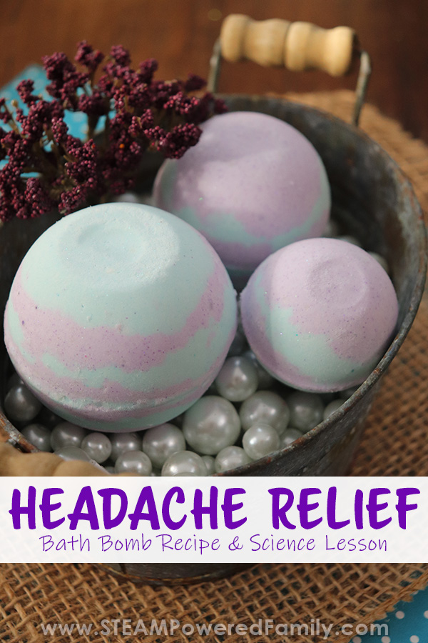 We use these bath bombs to relieve chronic migraines