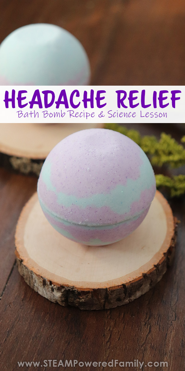 Migraine relief bath bomb recipe