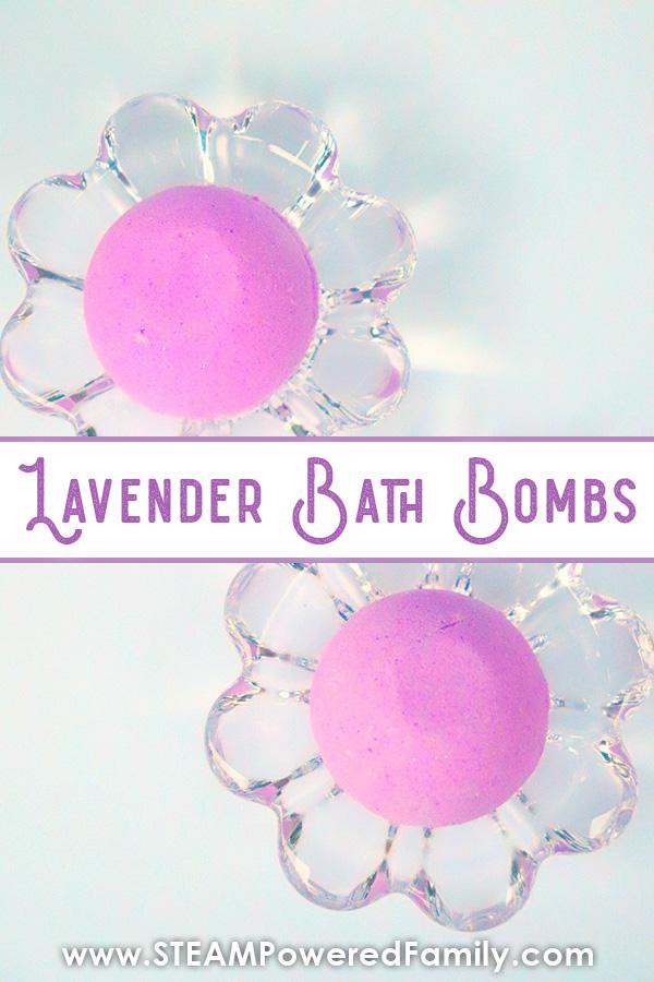 Lavender bath bomb recipe project