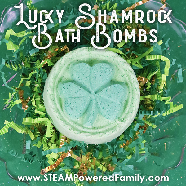 St. Patrick's Day Bath Bombs with hidden coin