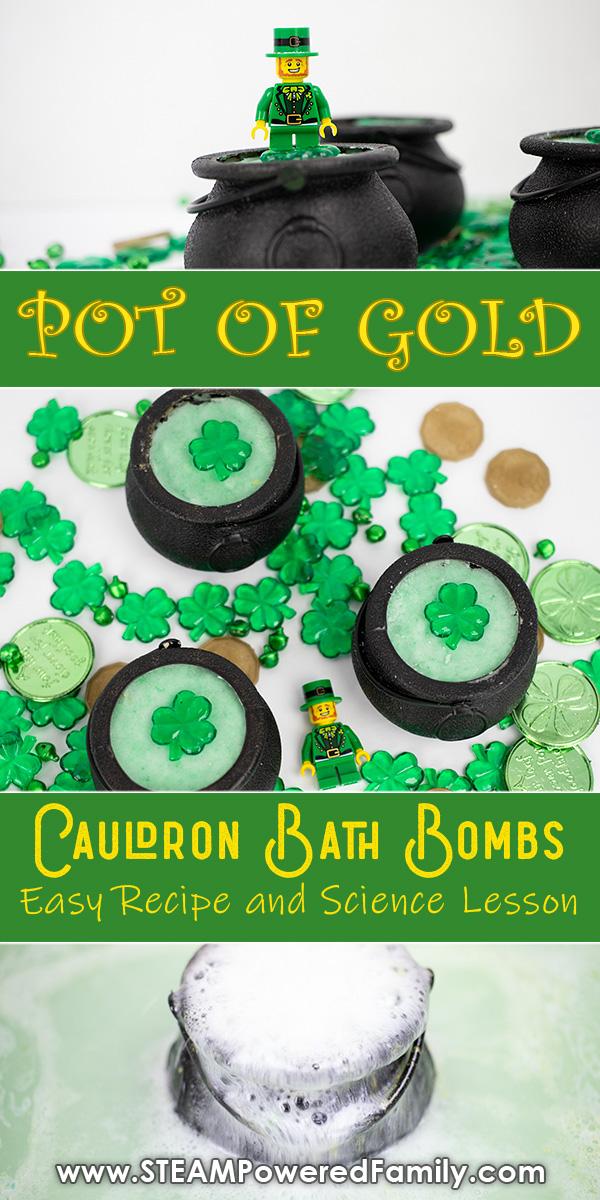 Pot of Gold Cauldron Bath Bombs